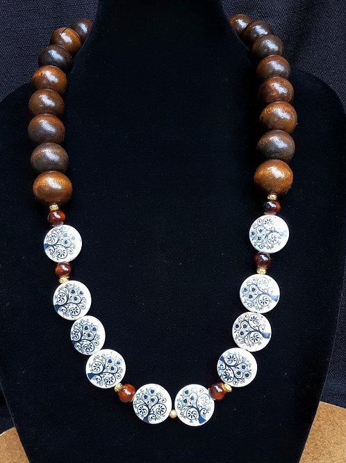 Raven Wooden Necklace
