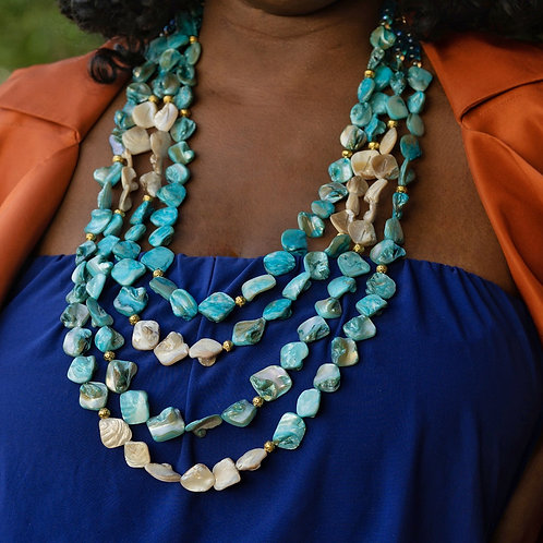 Aubriella Turquoise Shell Necklace