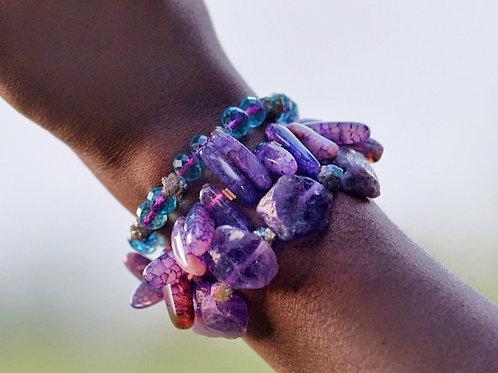 Amethyst Bracelet Set