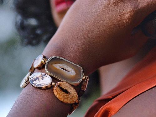 Athena Agate Bracelet Set