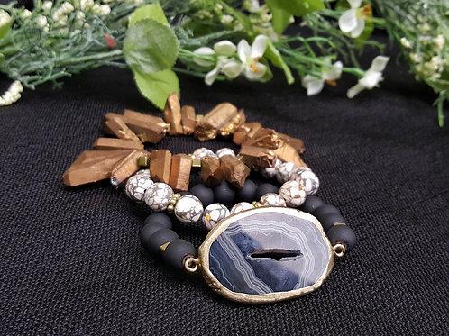 Amira Agate Bracelet Set