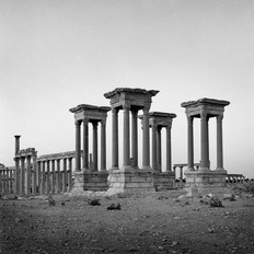 The Tetrapylon on the cardo maximus and the Great Colonnade