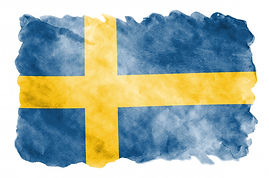 sweden-flag-is-depicted-liquid-watercolo