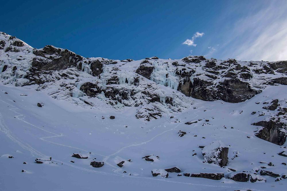 Wye Creek ice climbing