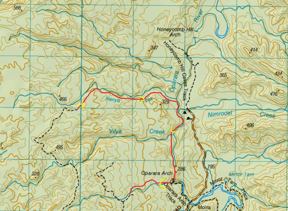 unmarked trails