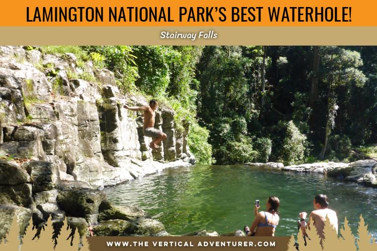 Lamington National Park's Best Secret Waterhole! Stairway Falls!