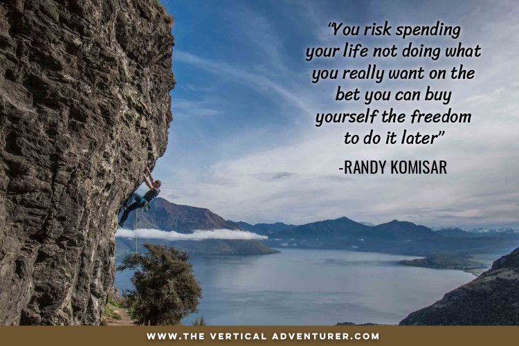 """You risk spending your life not doing what you really want on the bet you can buy yourself the freedom to do it later""  -Randy Komisar"