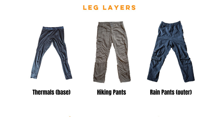 leg layers - layering for the outdoors
