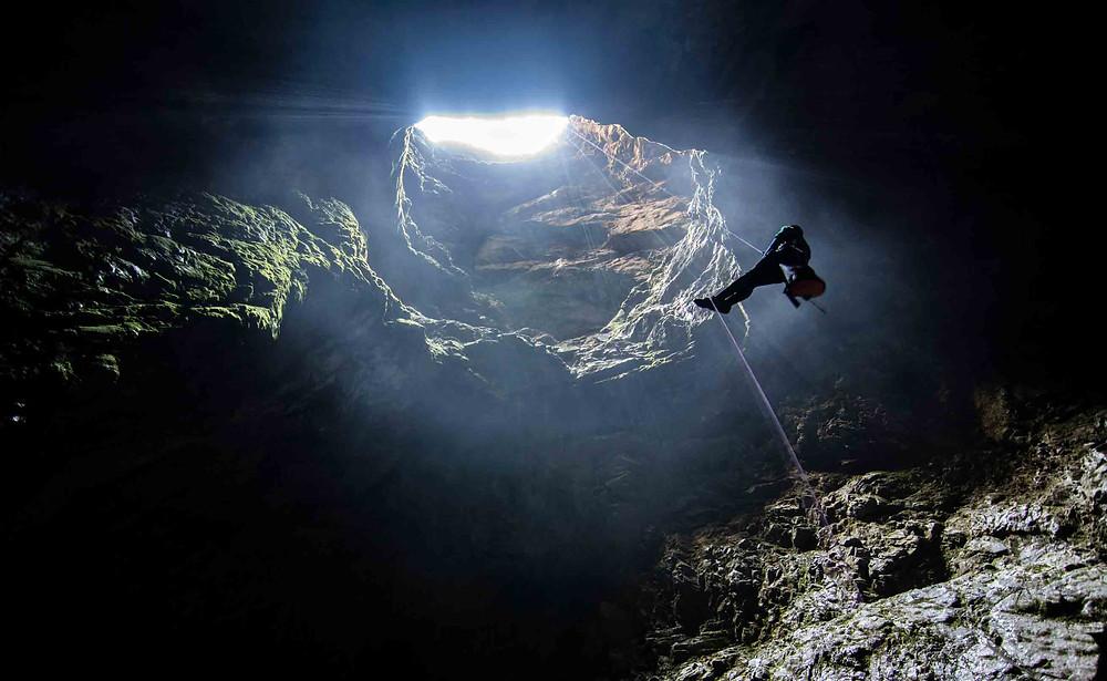 Harwoods Hole abseil