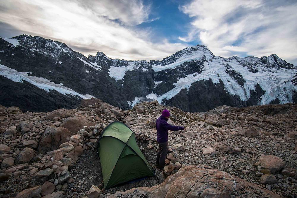 camping near mueller hut