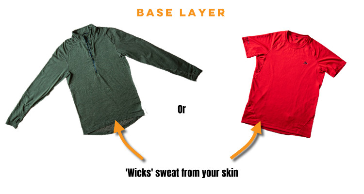 base layer - layering for the outdoors