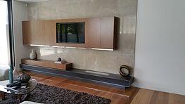 fireplace, veneer cabinetry