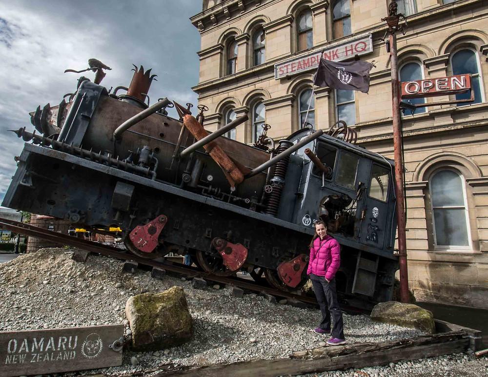 Steampunk train Oamaru
