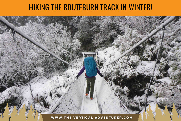 hiking the routeburn track in winter