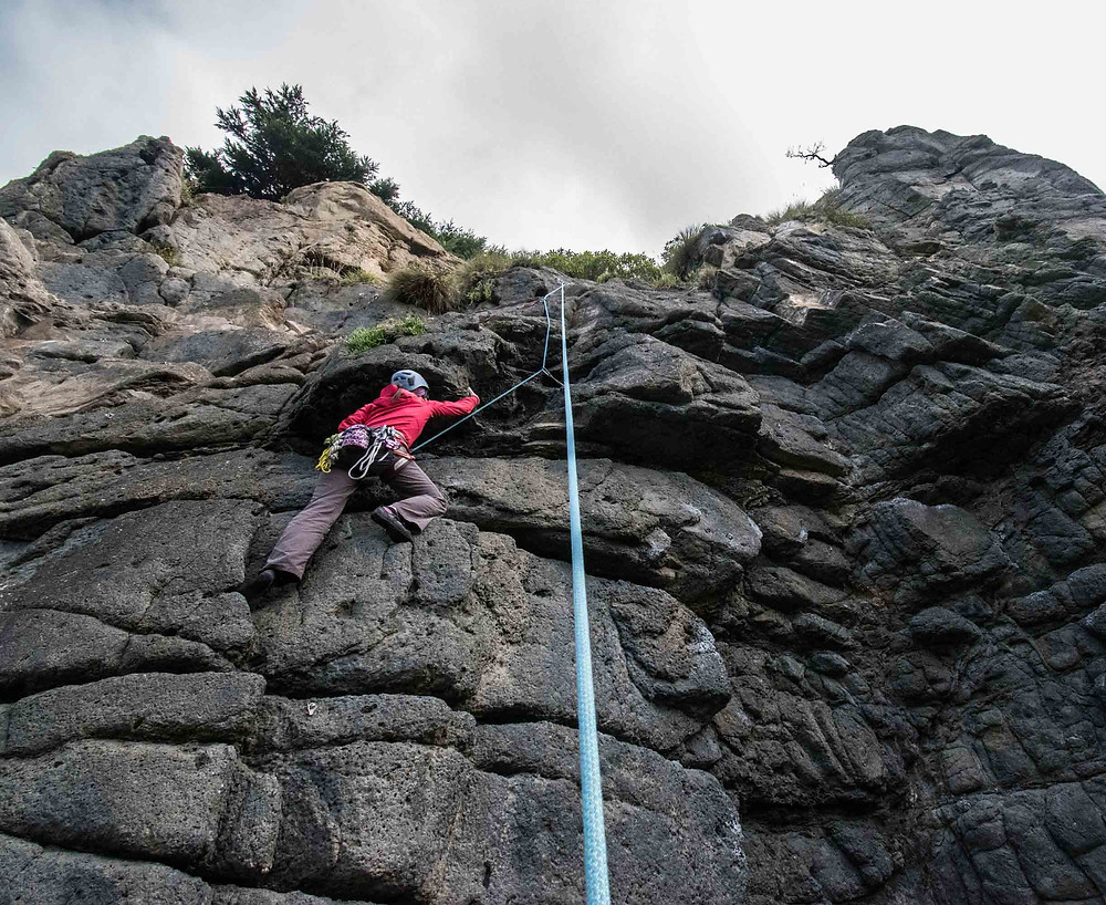 be patient while belaying