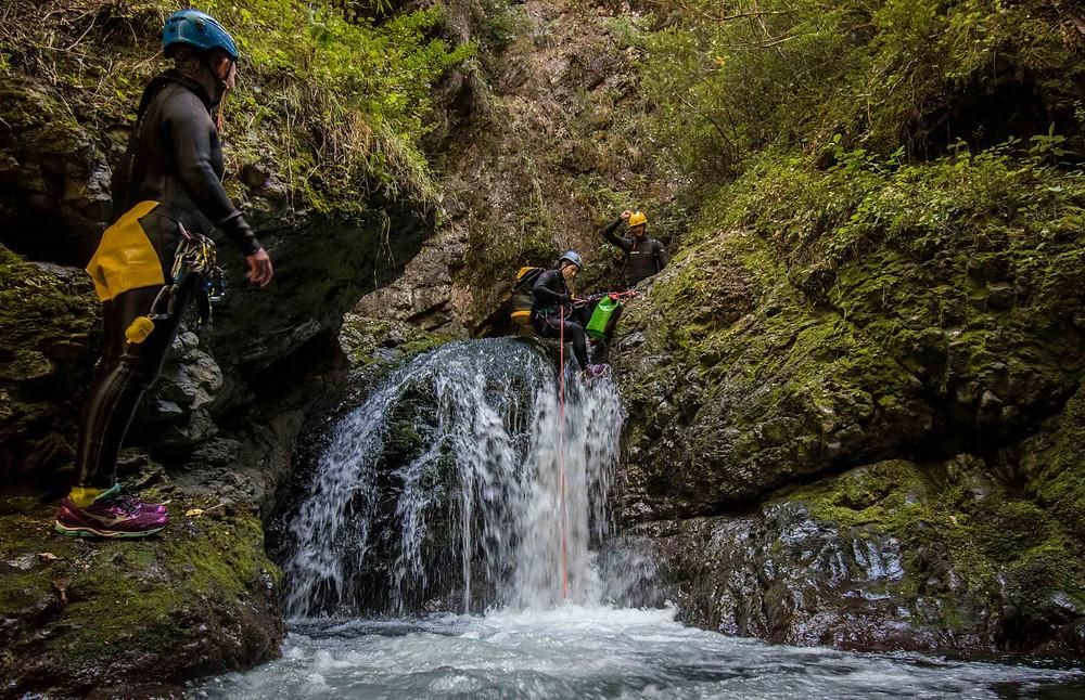 rock hopping in creek