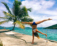 Handstand in British Virgin Islands
