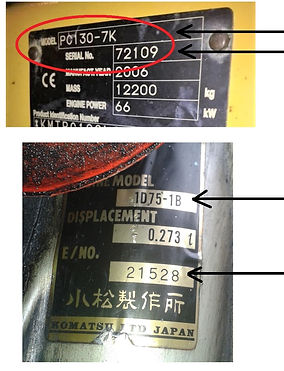 KOMATSU ENGINE IDENTIFICATION KOMAPARTS.