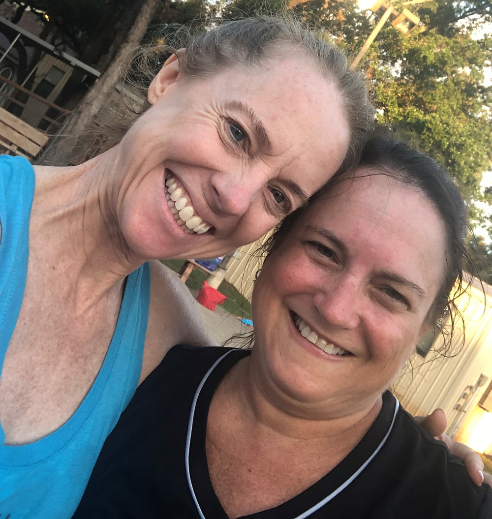 Pam and Diane after workout