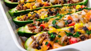 Healthy Burrito Zucchini Boats