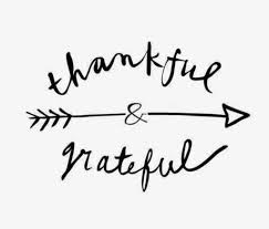 thankful and gratitude