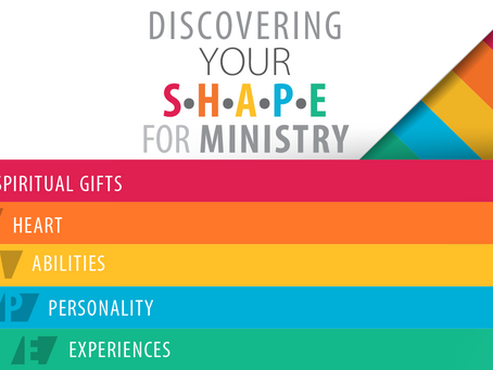 How God has SHAPED Us for Ministry: What is Your SHAPE for Ministry?