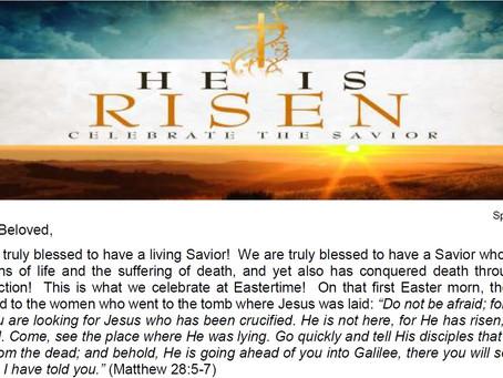 2019 Easter Letter