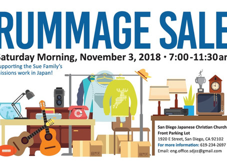 SDJCC Rummage Sale for Missions