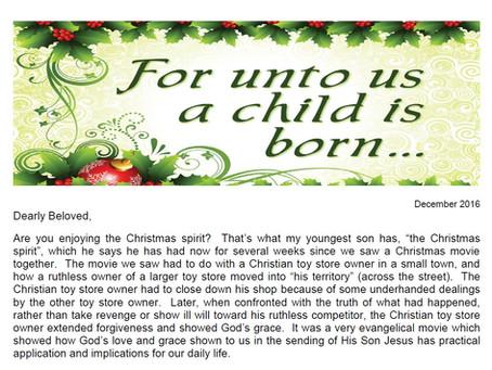 2016 Christmas Letter
