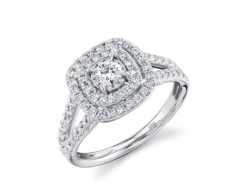 0.75ct Cushion Engagement ring