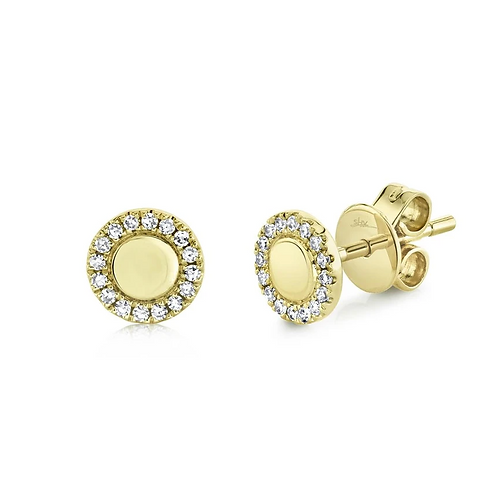 Circle Diamond Earrings