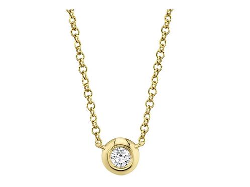 Bezel Single Stone Necklace