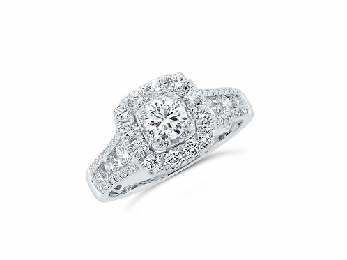 1.40ct Cushion Engagement ring