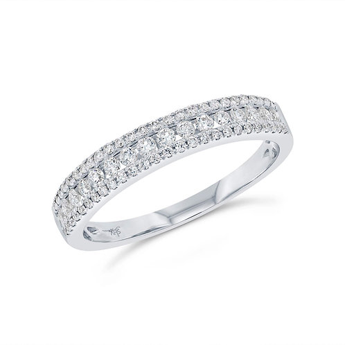 Round Diamond Combination Band