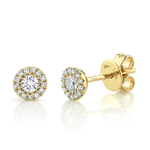 0.25ct Diamond Halo Earrings