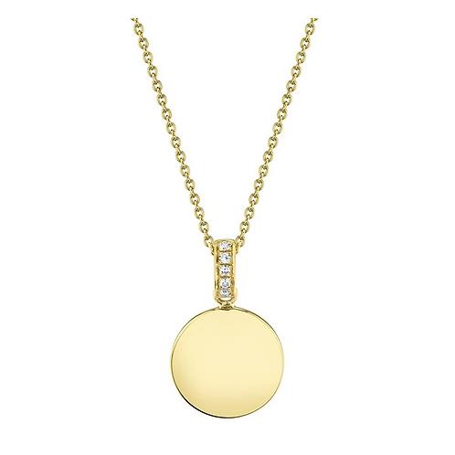 Circle Diamond Necklace (Initial)