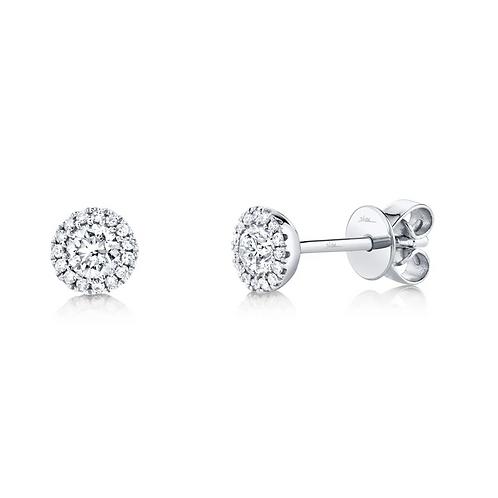 0.50ct Diamond Halo Earrings