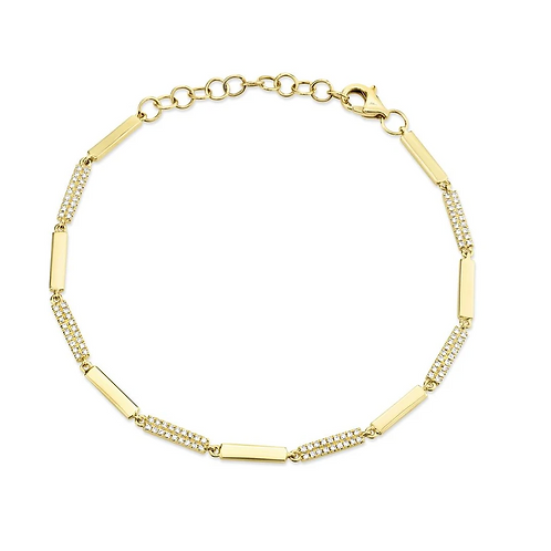 Alternating Diamond Bracelet
