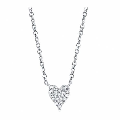 Mini Diamond Heart Necklace