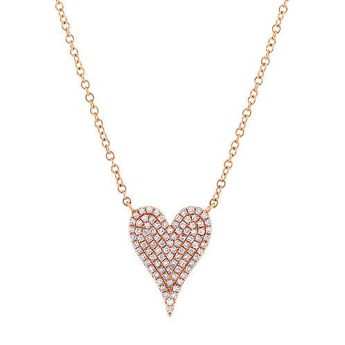 Diamond Heart Pave Necklace
