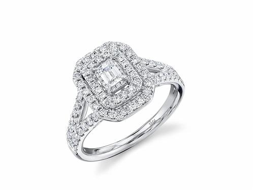 0.75ct Radiant Emerald Engagement ring