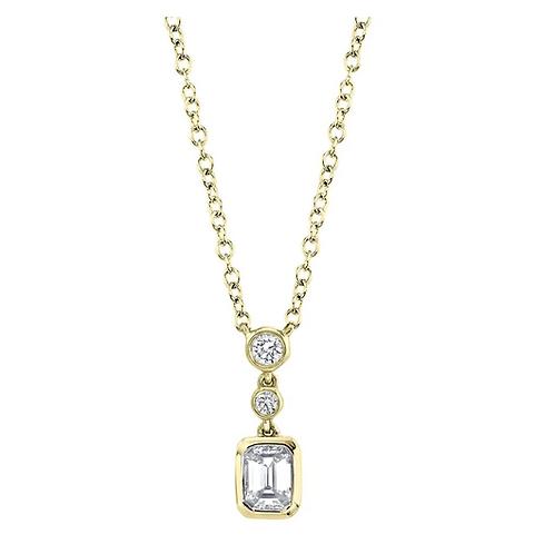 Emerald Cut Necklace