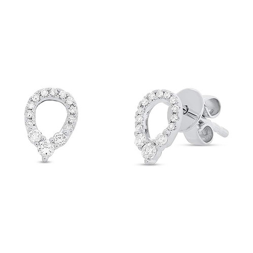 Pear Shape Diamond Earrings