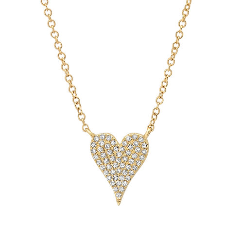 Diamond Heart Pave Necklace