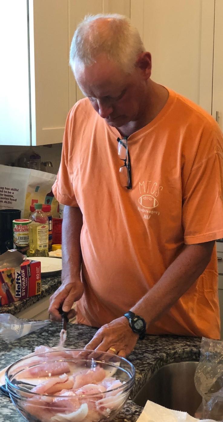 My Sweet Dad preparing the filets