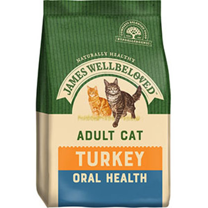 James Wellbeloved Adult Dry Cat Food Oral Health Turkey and Rice