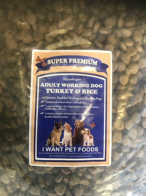 Adult Working Dog Turkey & Rice