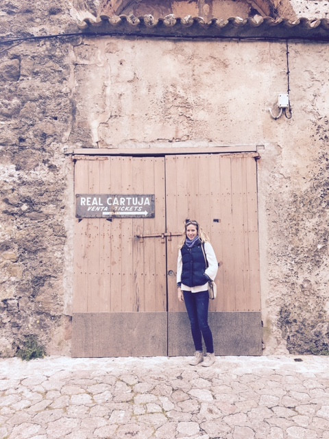 Sarah Santa Cruz at the Real Cartuja in Valldemossa, Majorca