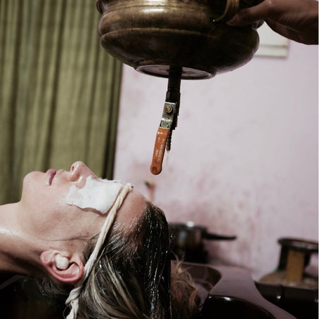 Amazing treatment experience in India - Shirodhara . . .