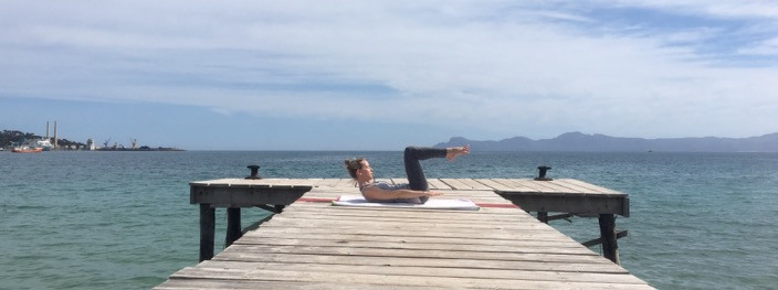 Pilates class in Mallorca with Sarah Santa Cruz